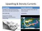 upwelling density currents