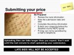submitting your price