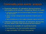 commodity price events analysis
