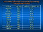 selected countries that are currently experiencing a commodity price boom