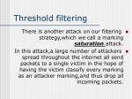 threshold filtering