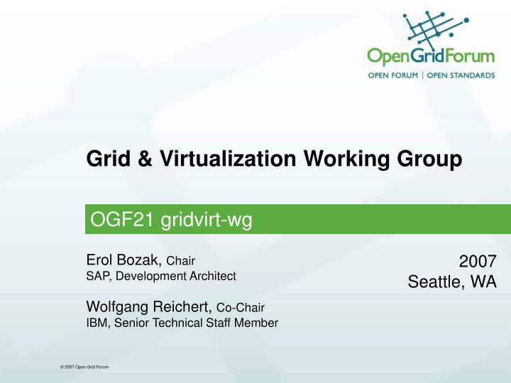 grid virtualization working group n.