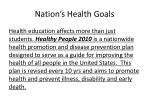 nation s health goals