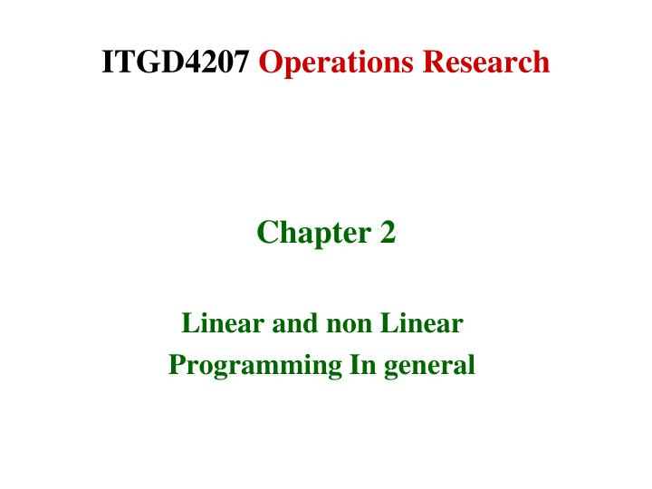 itgd4207 operations research n.