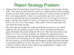 report strategy problem
