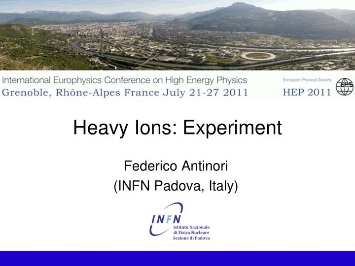heavy ions experiment n.
