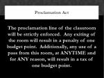 proclamation act