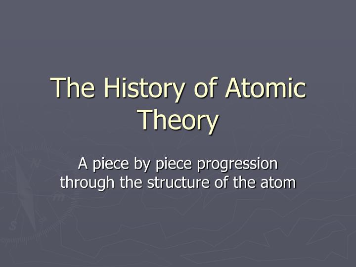 the history of atomic theory n.