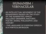 humanism vernacular