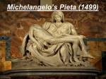 michelangelo s pieta 1499