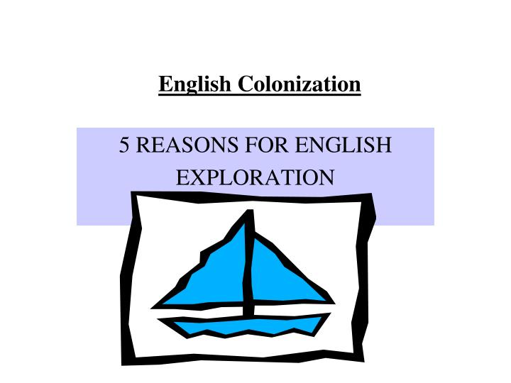 english colonization n.