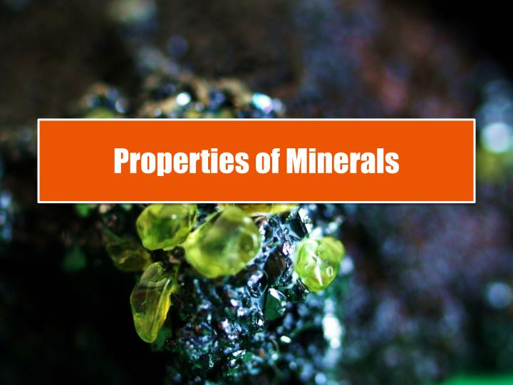properties of minerals n.