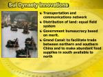 sui dynasty innovations