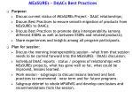 measures daacs best practices