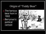origin of teddy bear