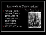 roosevelt as conservationist