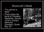 roosevelt s death