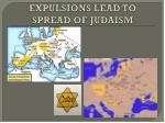 expulsions lead to spread of judaism
