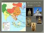 religion in asia c 1500