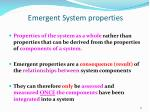 emergent system properties