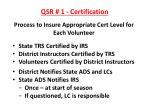 qsr 1 certification