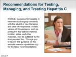 recommendations for testing managing and treating hepatitis c