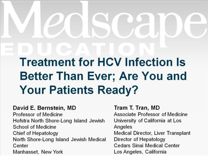 treatment for hcv infection is better than ever are you and your patients ready n.