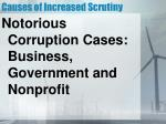 causes of increased scrutiny1