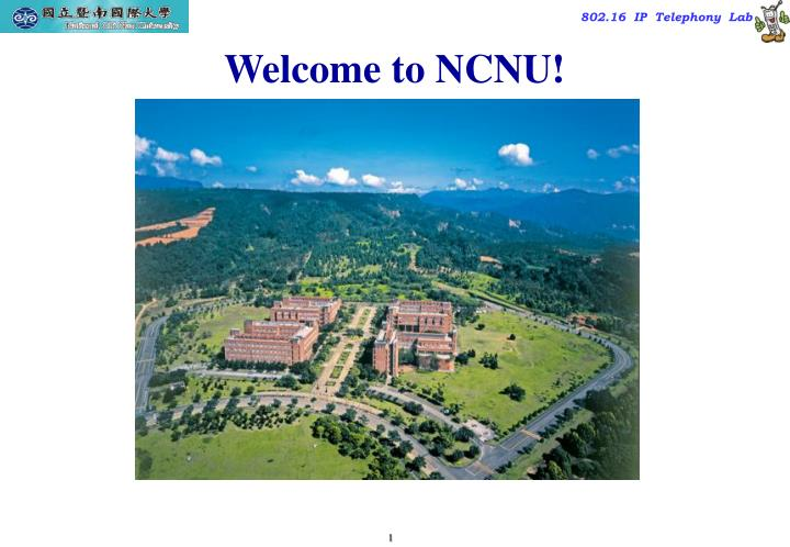 welcome to ncnu n.