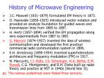 history of microwave engineering