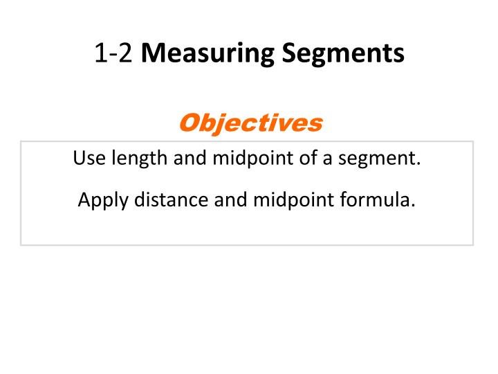 1 2 measuring segments n.