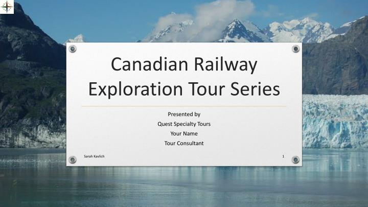 canadian railway exploration tour series n.