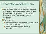 exclamations and questions