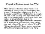 empirical relevance of the qtm2