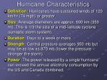 hurricane characteristics