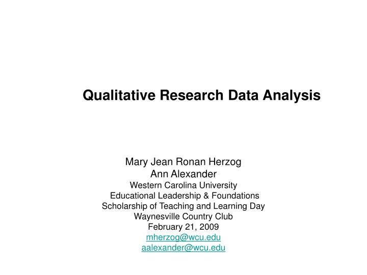 qualitative research data analysis n.