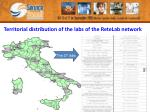 territorial distribution of the labs of the retelab network