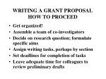 writing a grant proposal how to proceed