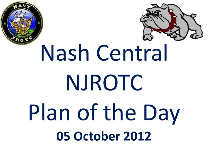 nash central njrotc plan of the day n.