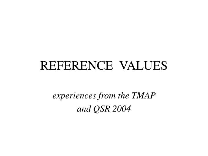 reference values n.