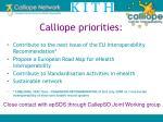 calliope priorities