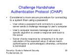 challenge handshake authentication protocol chap