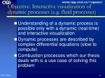 objective interactive visualization of dynamic processes e g fluid processes
