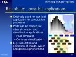 reusability possible applications