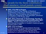 the awards for the thesis contributions fluid simulator virtual particle system