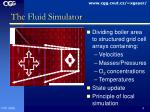 the fluid simulator