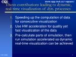 thesis contributions leading to dynamic real time visualization of dyn processes