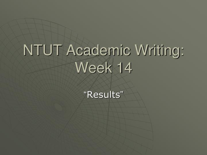 ntut academic writing week 14 n.