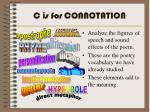 c is for connotation
