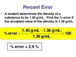 percent error1